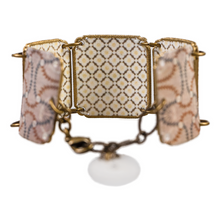 Load image into Gallery viewer, Geometric textile inspired cuff bracelet