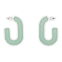 Load image into Gallery viewer, Handmade Acrylic Short Hoop Earrings