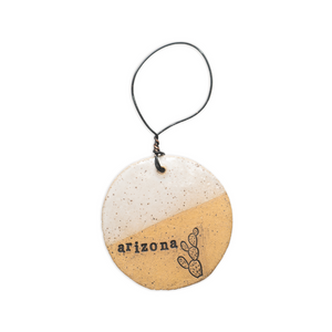 Dip Glazed Arizona  Handmade Ceramic Ornament