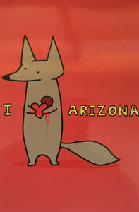 Fox Heart AZ Postcard