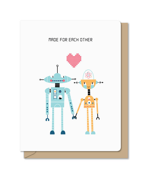 Robot Marriage Card