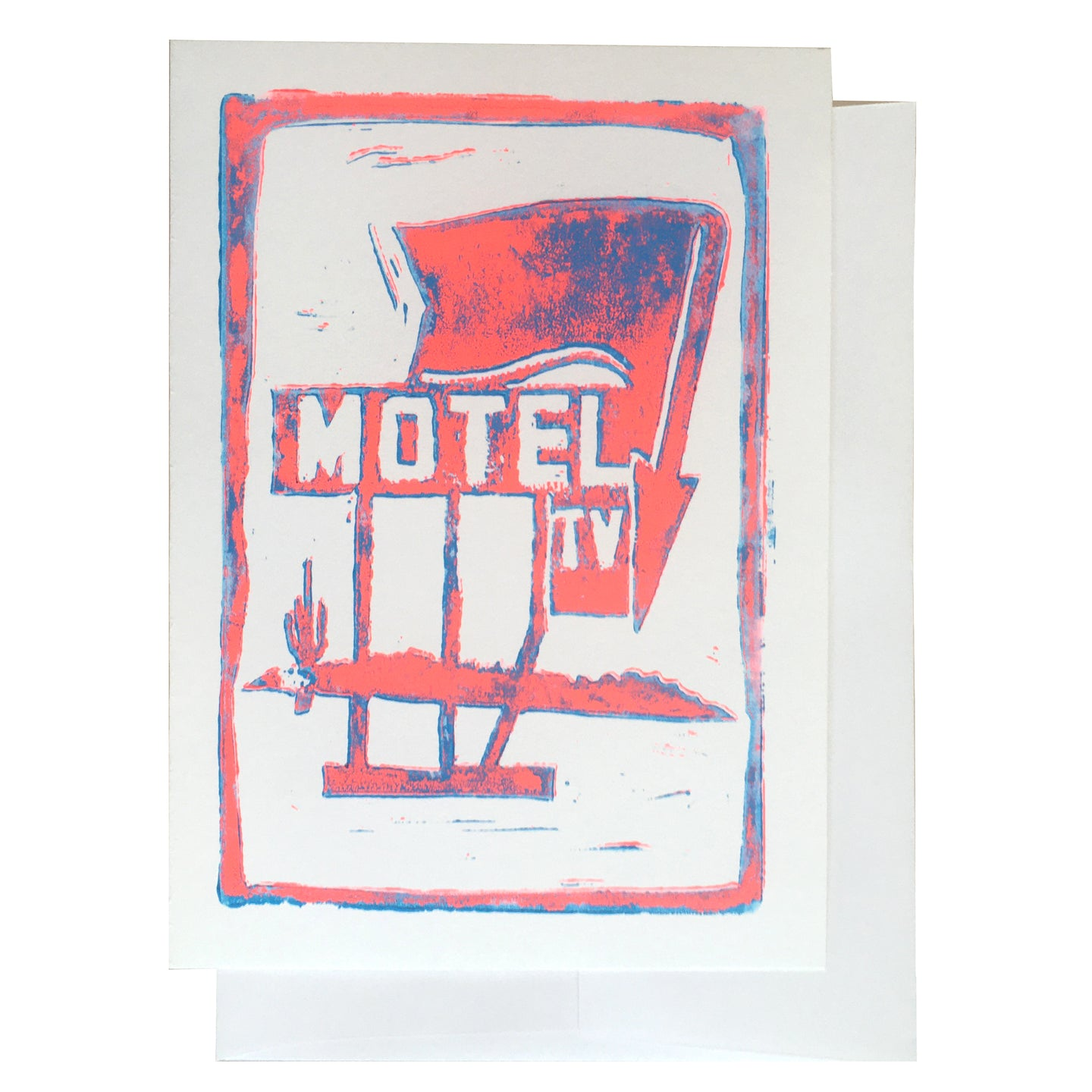 Motel hand-pulled card