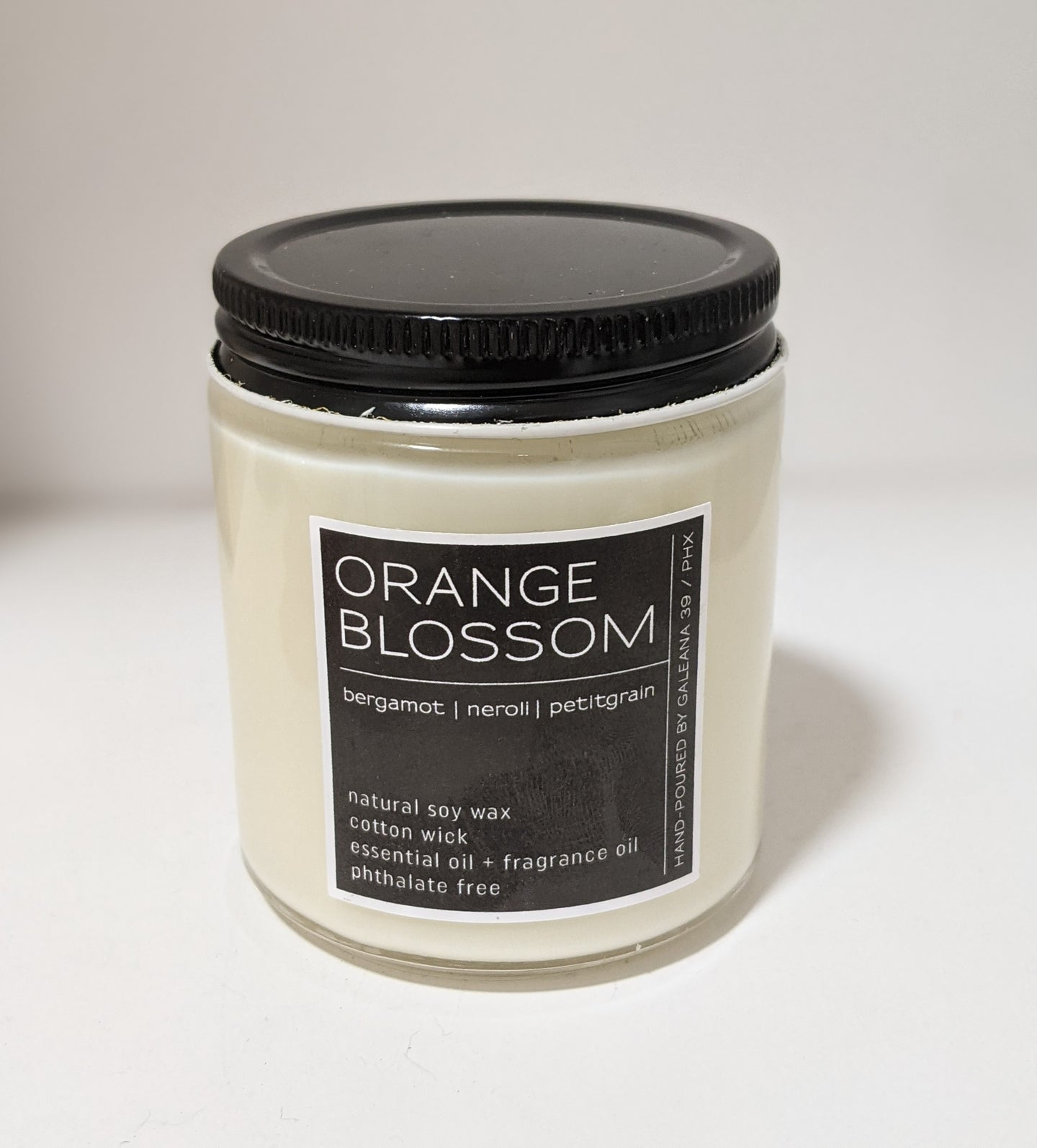 Handcrafted Soy Candle Orange Blossom