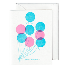 Load image into Gallery viewer, Bright Balloons Birthday Card