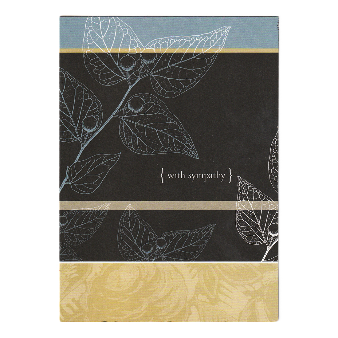 White leaves sympathy Card