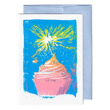 Load image into Gallery viewer, Sparkle cupcake card
