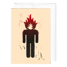 Load image into Gallery viewer, Head on fire print card