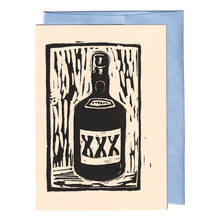 Load image into Gallery viewer, XXX liquor bottle print card