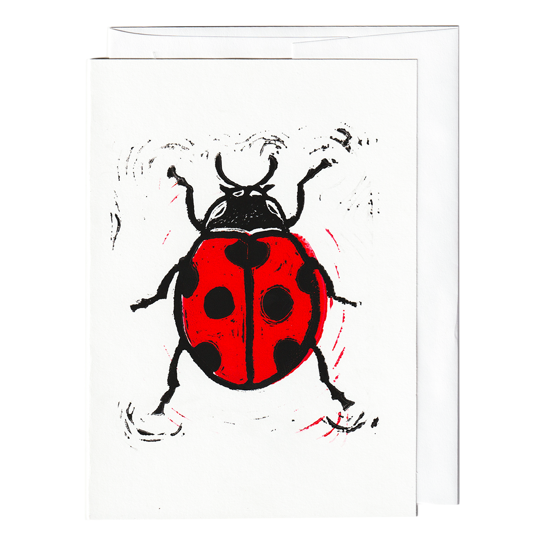 Lady bug print card