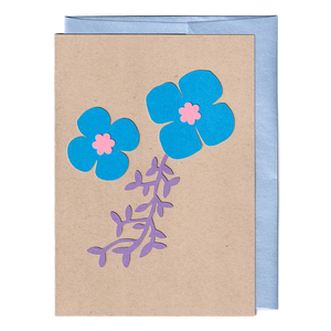 Flowers and vines cut paper card