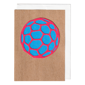 Space rock handmade cut paper card