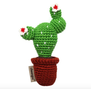 Baby Cactus Crocheted Rattle