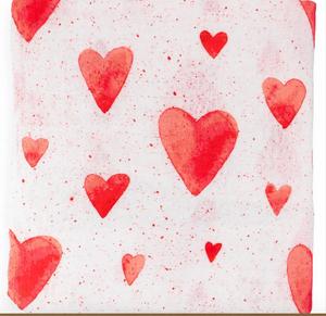 Baby Red Hearts - Swaddle Blanket