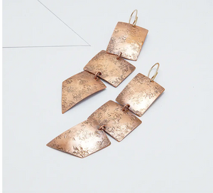 From The Reliquary Emissary Earrings - Copper
