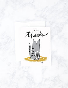Many Thanks Cat Card