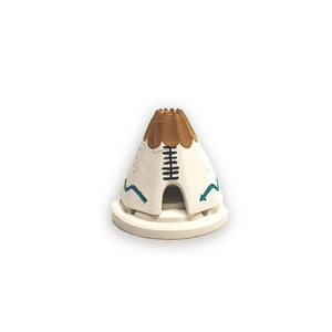 Teepee White Incense Burner Set