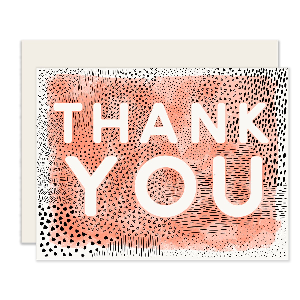 Abstract Thank You Card Set (6 Cards With Envelopes)