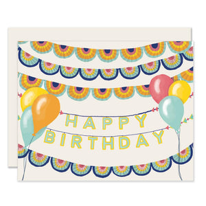 Banners and Balloons Birthday Card