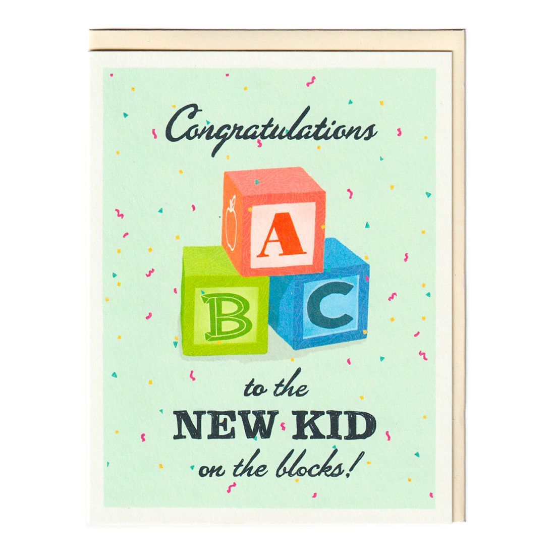 Congrats New Kid on the Block Baby Card