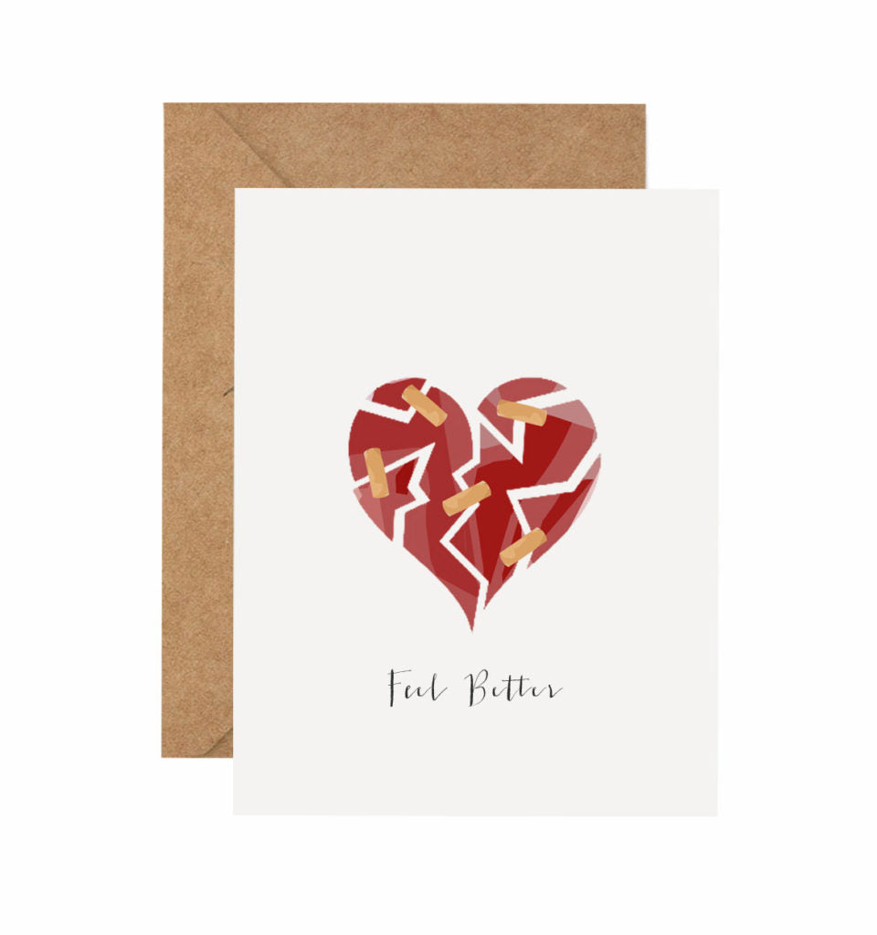 Bandaid on Heart Get Well Card