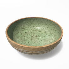 Load image into Gallery viewer, Green Gazed Carved Earthenware Bowl