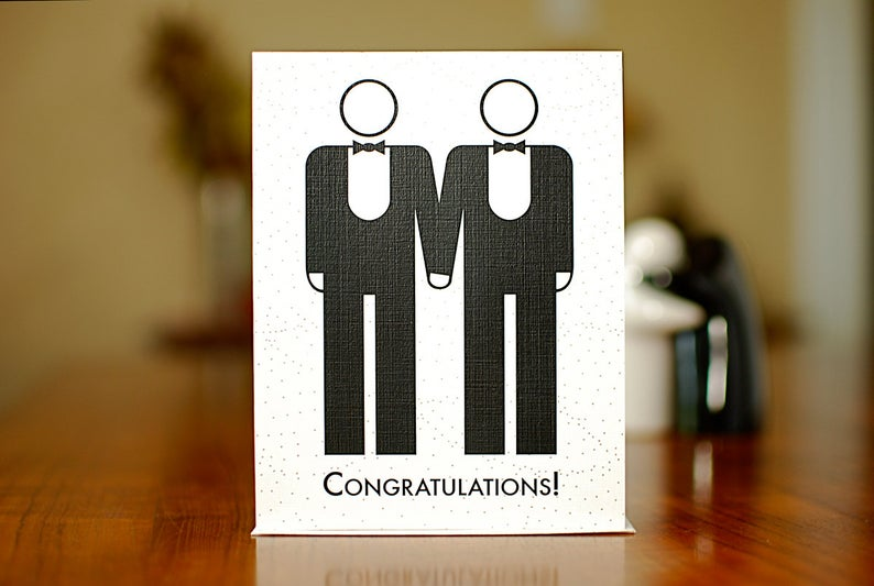 Marriage Congratulations Card Men