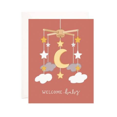 Night Sky Mobile Baby Card