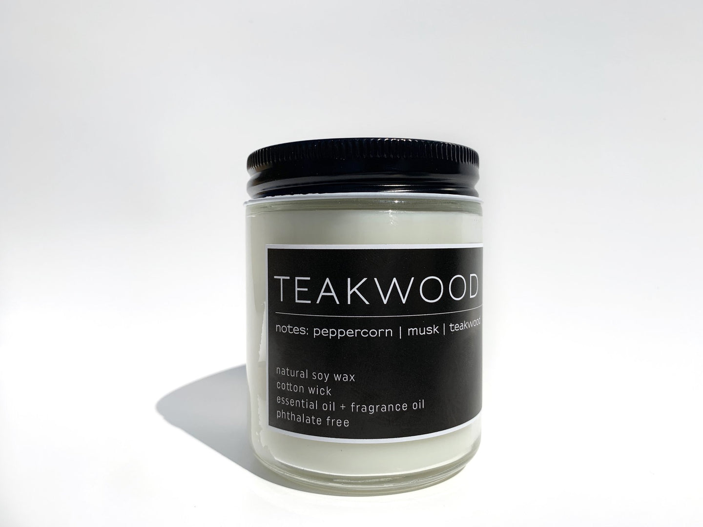 Handcrafted Soy Candle Teakwood Scent