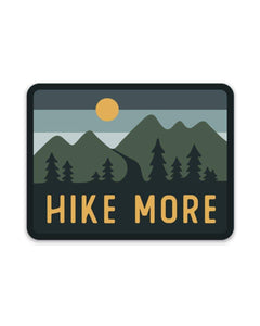 Hike More Sticker