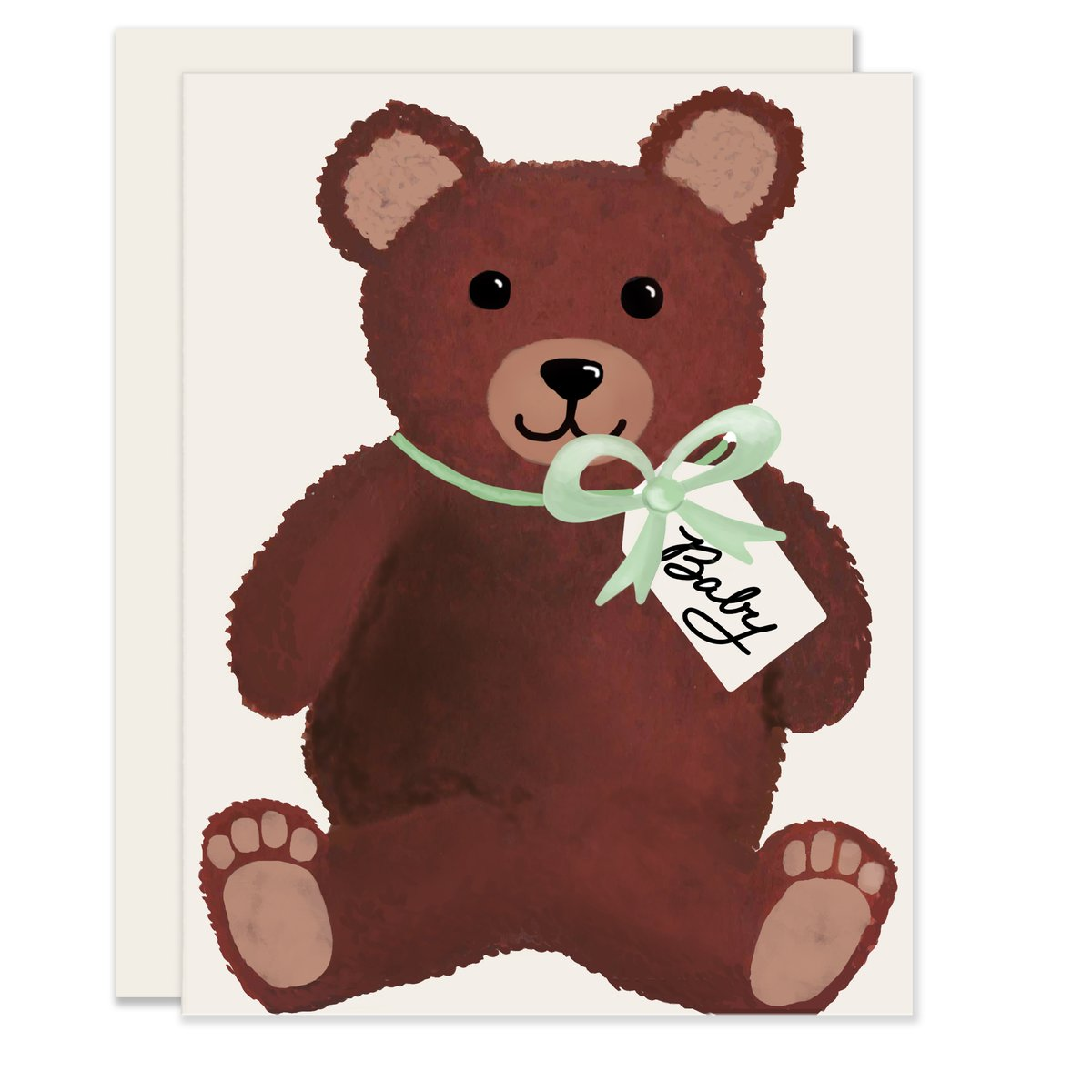 Teddy Bear Baby Card