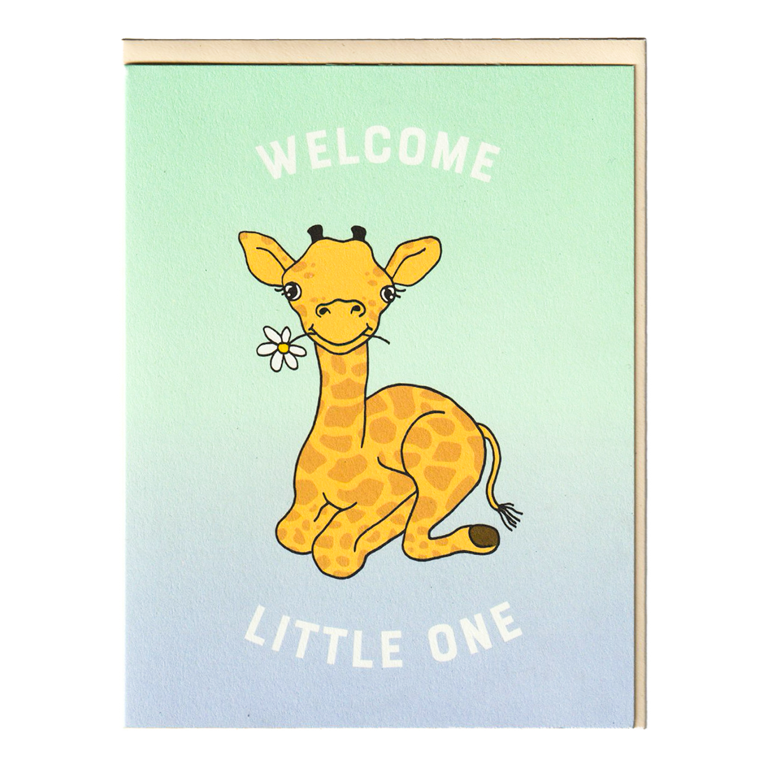 Welcome Little One Giraffe Baby Card