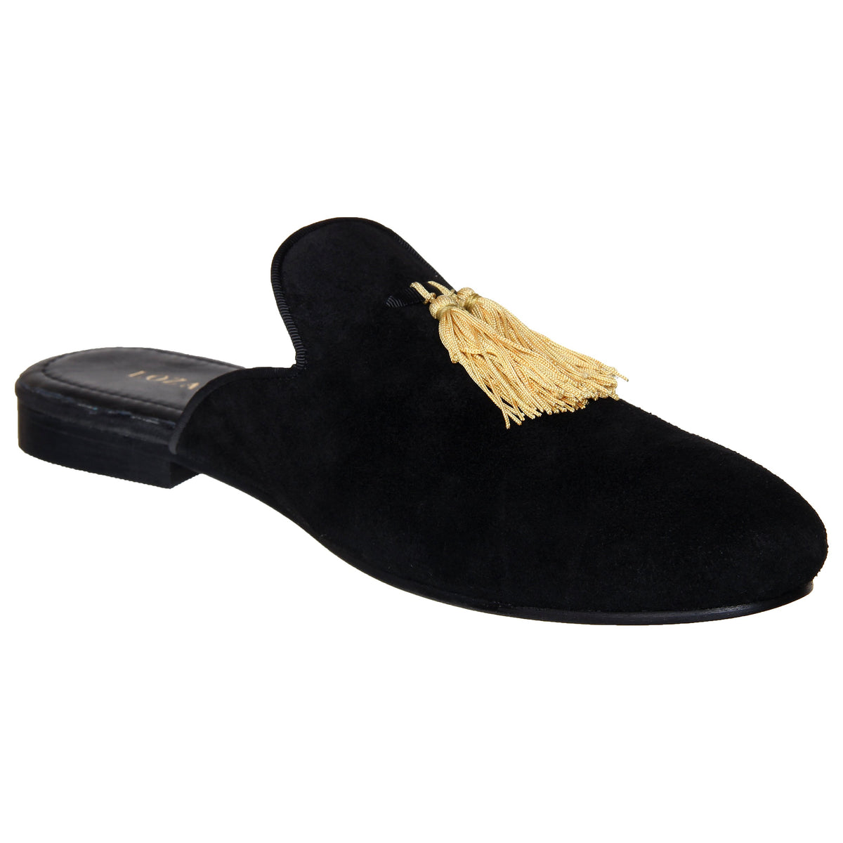 SUEDE MULES WITH TASSELS - Shop Lozano