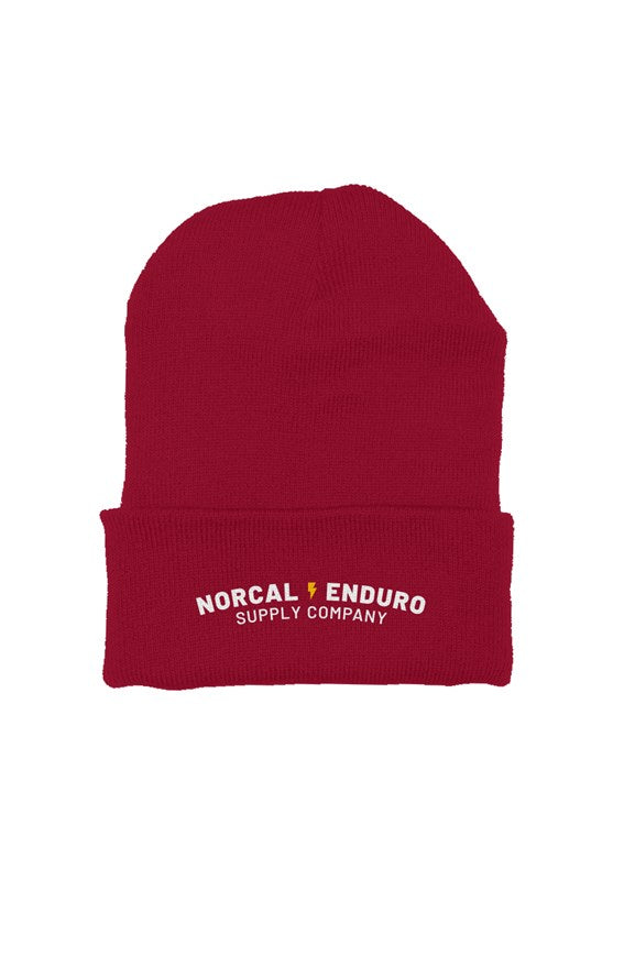 NorCal Enduro Supply Co. Cranberry Beanie