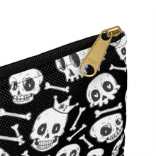 Load image into Gallery viewer, Black Skully Accessory Bag