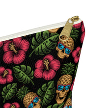 Load image into Gallery viewer, Tropical Skully Accessory Bag w T-bottom