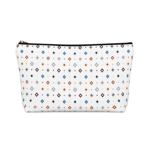 Pastel Squares Accessory Bag w T-bottom