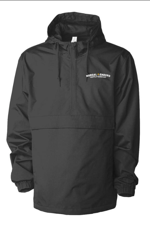 Embroidered NorCal Enduro Supply Co. Black Anorak Jacket