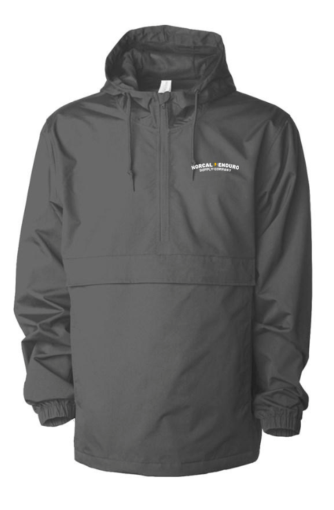 Embroidered NorCal Enduro Supply Co. Graphite Anorak Jacket