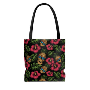 Tropical Skully Tote Bag