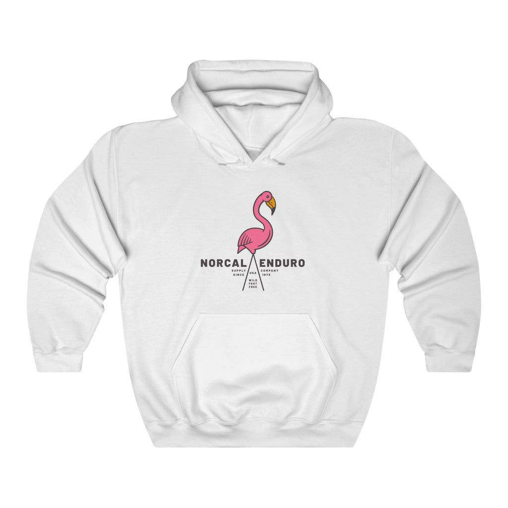 Lawn Flamingo Hooded Sweatshirt