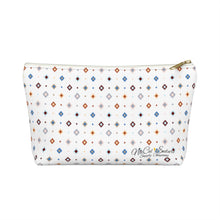 Load image into Gallery viewer, Pastel Squares Accessory Bag w T-bottom