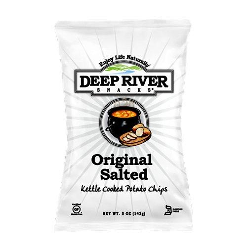 Deep River Snacks, Kettle Chips, Original Sea Salt, 5 oz