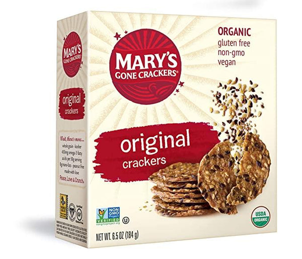 Mary's Gone Crackers, Original Crackers, 6.5oz