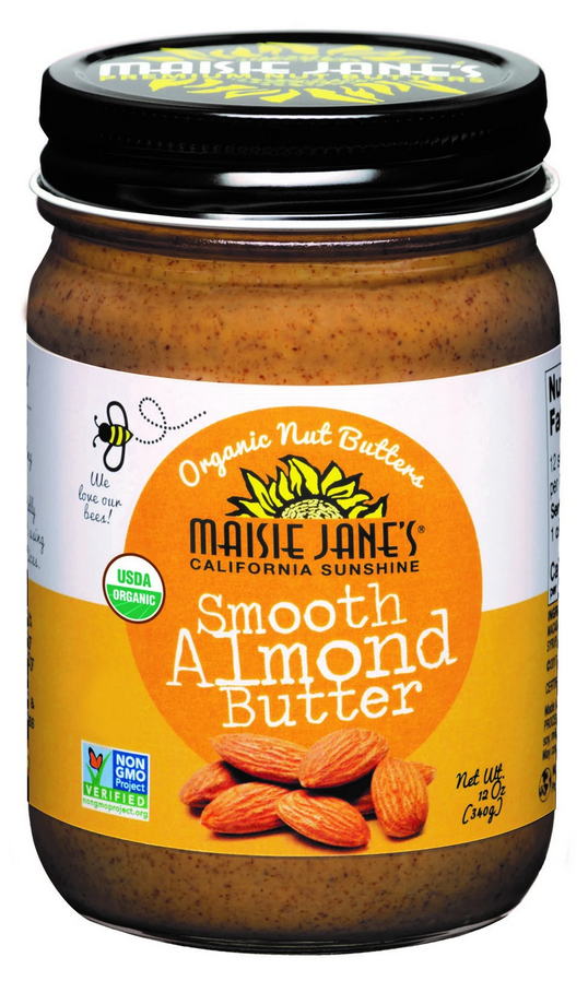 Maisie Jane's, Organic Smooth Almond Butter, 12 oz