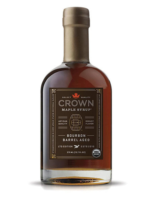 Crown Maple, Bourbon Barrel Aged Organic Maple Syrup, 375ml (12.7 FL OZ )