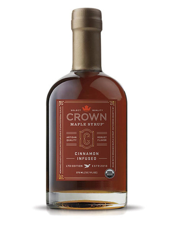 Crown Maple, Cinnamon Infused Organic Maple Syrup, 375ml (12.7 FL OZ )