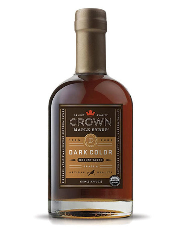 Crown Maple, Dark Color Robust Taste Organic Maple Syrup, 375ml (12.7 FL OZ )