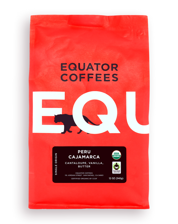 Equator Coffee Single Origin, PERU CAJAMARCA FAIR TRADE ORGANIC
