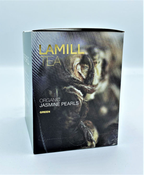 Lamill Tea, Organic Jasmine Pearls, Herbal, 15 tea bags