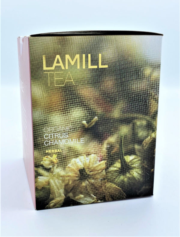 Lamill Tea, Organic Citrus Chamomile, Herbal, 15 tea bags